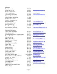 Web Contractors (Updated 5-1) - City of Bel Aire