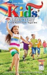 Hampton Roads Kids' Directory Peninsula Edition: August 2016