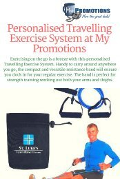 Buy Promotional Travelling Exercise System from My Promotions