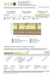 U-wert Beispiel - MassivHolzwand 185mm Holzfaser 140 mm Holzfaser plus HolzFassade, hinterlüftet