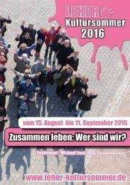 Leher Kultursommer 2016 - Das Programm