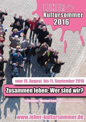 """Leher Kultursommer 2016"" - Das Programm"