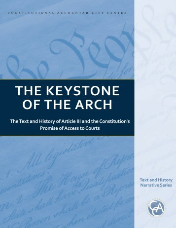 THE KEYSTONE OF THE ARCH