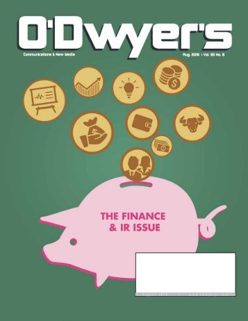 Communications & New Media Aug 2016 Vol 30 No 8 August 2016 | www.odwyerpr.com