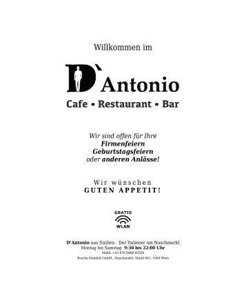 Menü D'Antonio