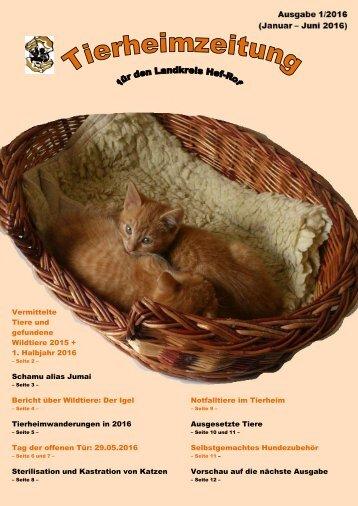 Tierheimzeitung 1. Ausgabe 2016