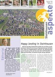 Ausgabe 09/2008 - Aspekte Steinhausen