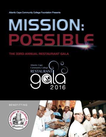 2016 Atlantic Cape Community College Restaurant Gala