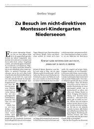 Zu Besuch Im Nicht-direktiven Montessori ... - Arbor Verlag