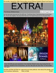 EXTRA! The Anaheim Disney Issue               July and August 2016