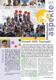 Ausgabe 02/2009 - Aspekte Steinhausen