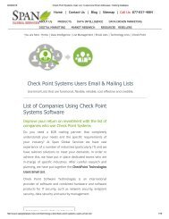 Search specialists based on your business needs with Checkpoint Systems Decision Makers List