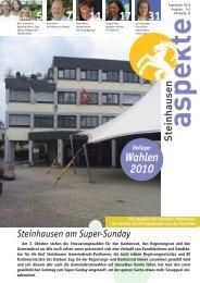 Ausgabe 09/2010 - Aspekte Steinhausen