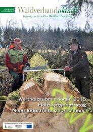 Waldverband aktuell - Ausgabe 2015-01