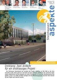 Ausgabe 07-08/2010 (Grösse 4.2 MB) - Aspekte Steinhausen