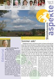 Ausgabe 11/2009 - Aspekte Steinhausen