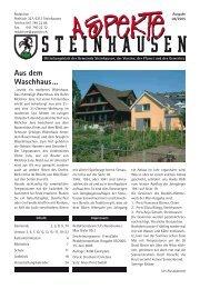 Aus dem Waschhaus... - Aspekte Steinhausen