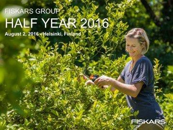 HALF YEAR 2016