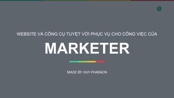Nhung cong cu bac nhat phuc vu cho Marketer