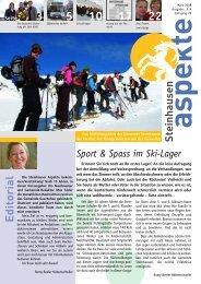 Ausgabe 03/2008 - Aspekte Steinhausen