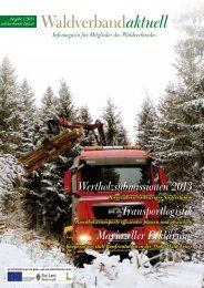 Waldverband aktuell - Ausgabe 2013-01