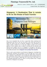 Singapore: A Destination That is certain to be on The Brains of Each Traveler