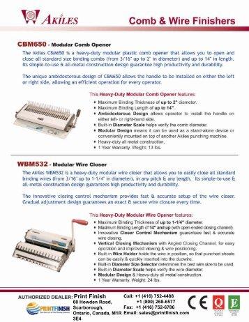 Module Akiles WBM532 Wire Binding Machine by Printfinish.com