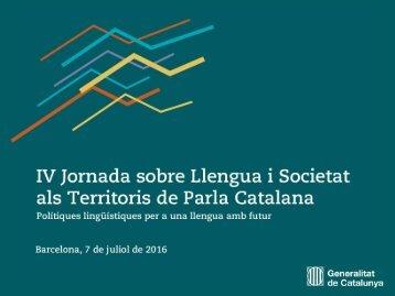 del català al conjunt del domini lingüístic