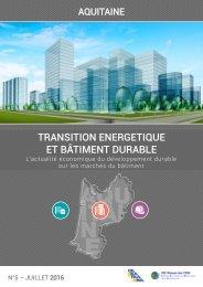 TRANSITION ENERGETIQUE ET BÂTIMENT DURABLE