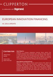 EUROPEAN INNOVATION FINANCING