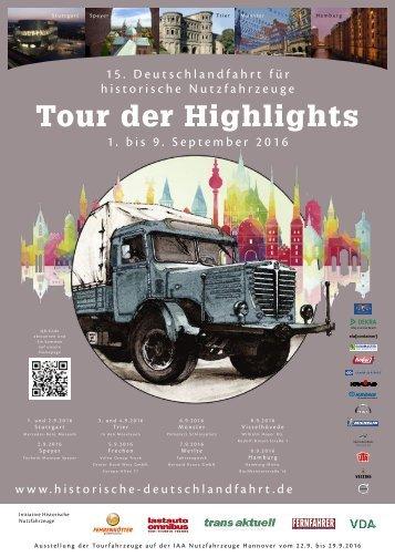 Broschüre der 15. Deutschlandfahrt 2016