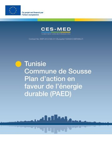 Tunisia Municipality of Sousse Sustainable Energy Action Plan (SEAP - in French)