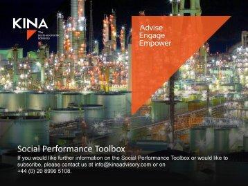 Social Performance Toolbox