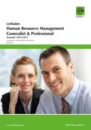Leitfaden Human Resource Management Generalist & Professional