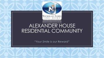 Alexander house BochureV2