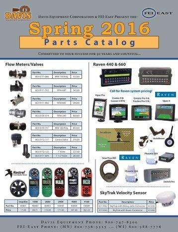 Spring Parts Catalog - FY2016