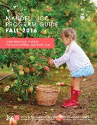 MANDELL JCC PROGRAM GUIDE FALL 2016