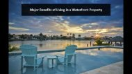 Major Benefits of Living in a Waterfront Property
