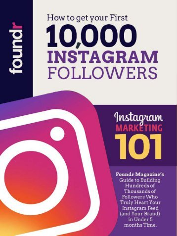 How to Get Your First 10,000 Instagram Followers Ebook