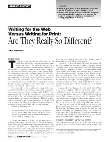 Writing for the Web Versus Writing for Print - John Simmer