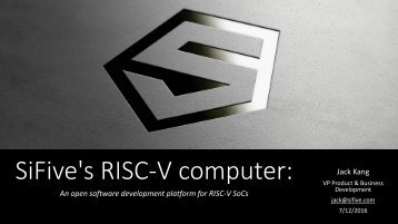 SiFive's RISC-V computer