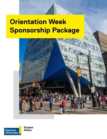 Orientation Week Sponsorship Package