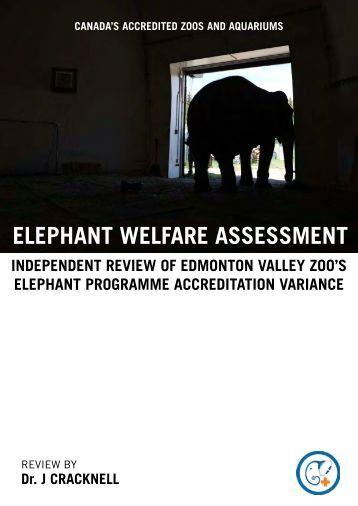 ELEPHANT WELFARE ASSESSMENT