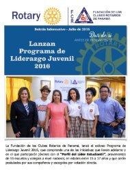 FCR Panamá - Boletín Informativo Julio 2016
