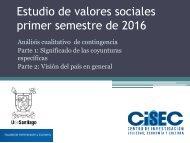 Estudio de valores sociales primer semestre de 2016
