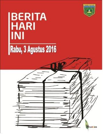 e-Kliping Rabu, 3 Agustus 2016