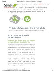FM System Software customer email lists is fresh and relevant for the current year