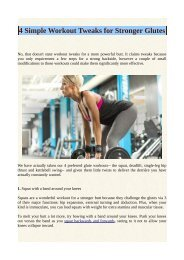 4 Simple Workout Tweaks for Stronger Glutes