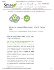 Purchase List of Billing and Invoice Software Users from Span Global Services