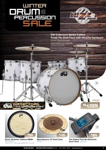 Buzz music Drum Catalogue 2016